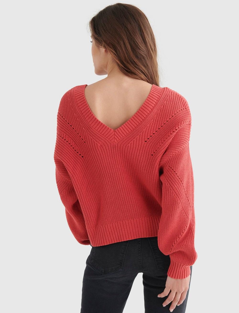 CROPPED RIB-KNIT PULLOVER REVERSIBLE SWEATER, image 5