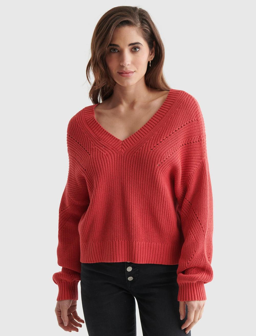 CROPPED RIB-KNIT PULLOVER REVERSIBLE SWEATER, image 6