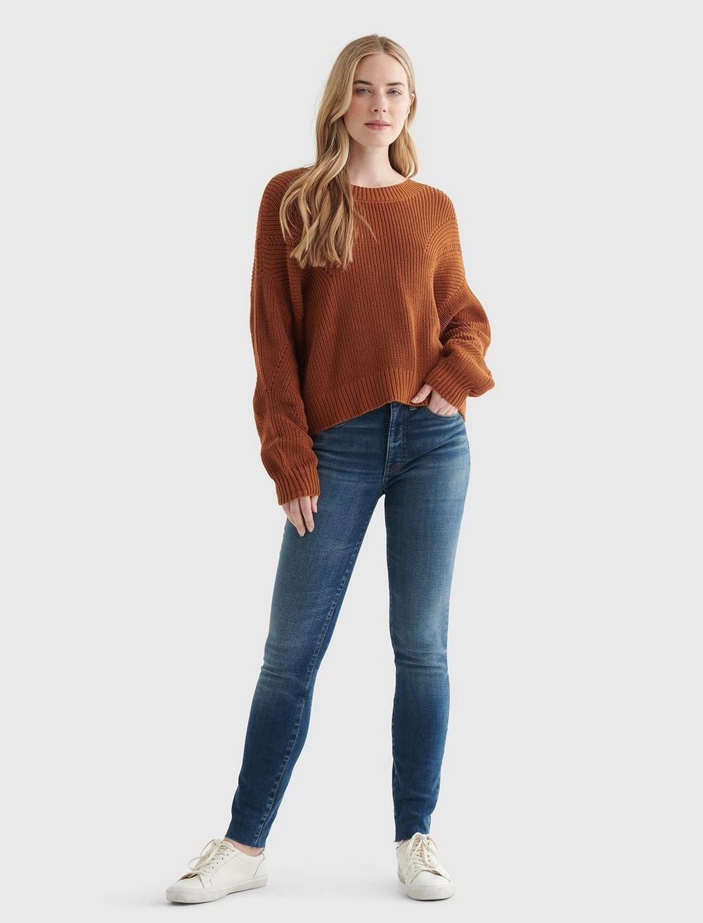 CROPPED RIB-KNIT PULLOVER REVERSIBLE SWEATER, image 2