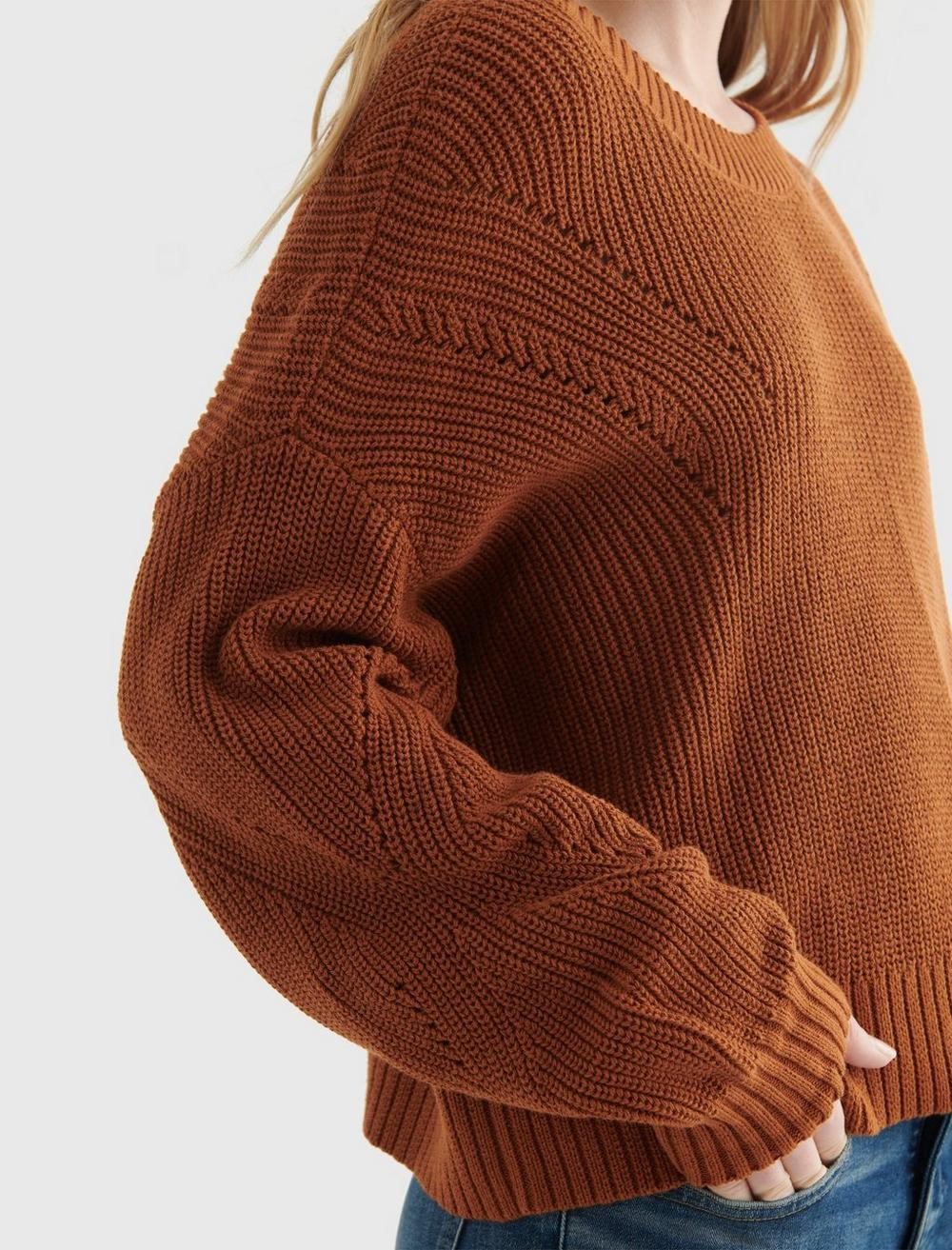 CROPPED RIB-KNIT PULLOVER REVERSIBLE SWEATER, image 4