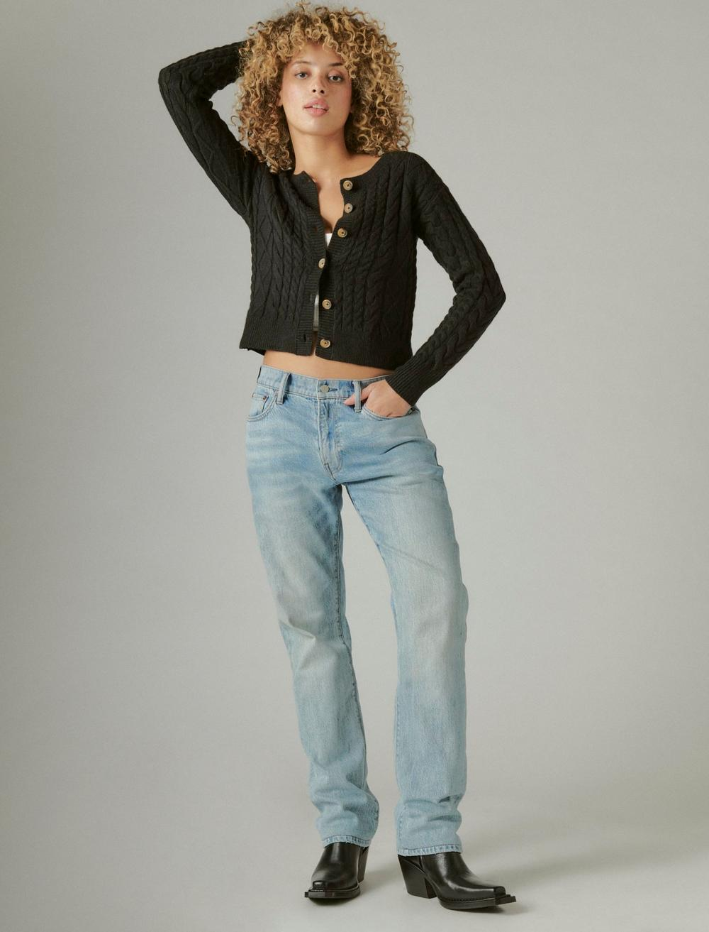 CABLE CARDIGAN TOP, image 2