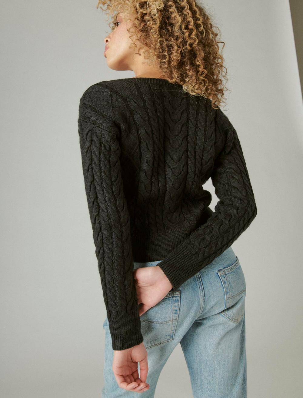 CABLE CARDIGAN TOP, image 4