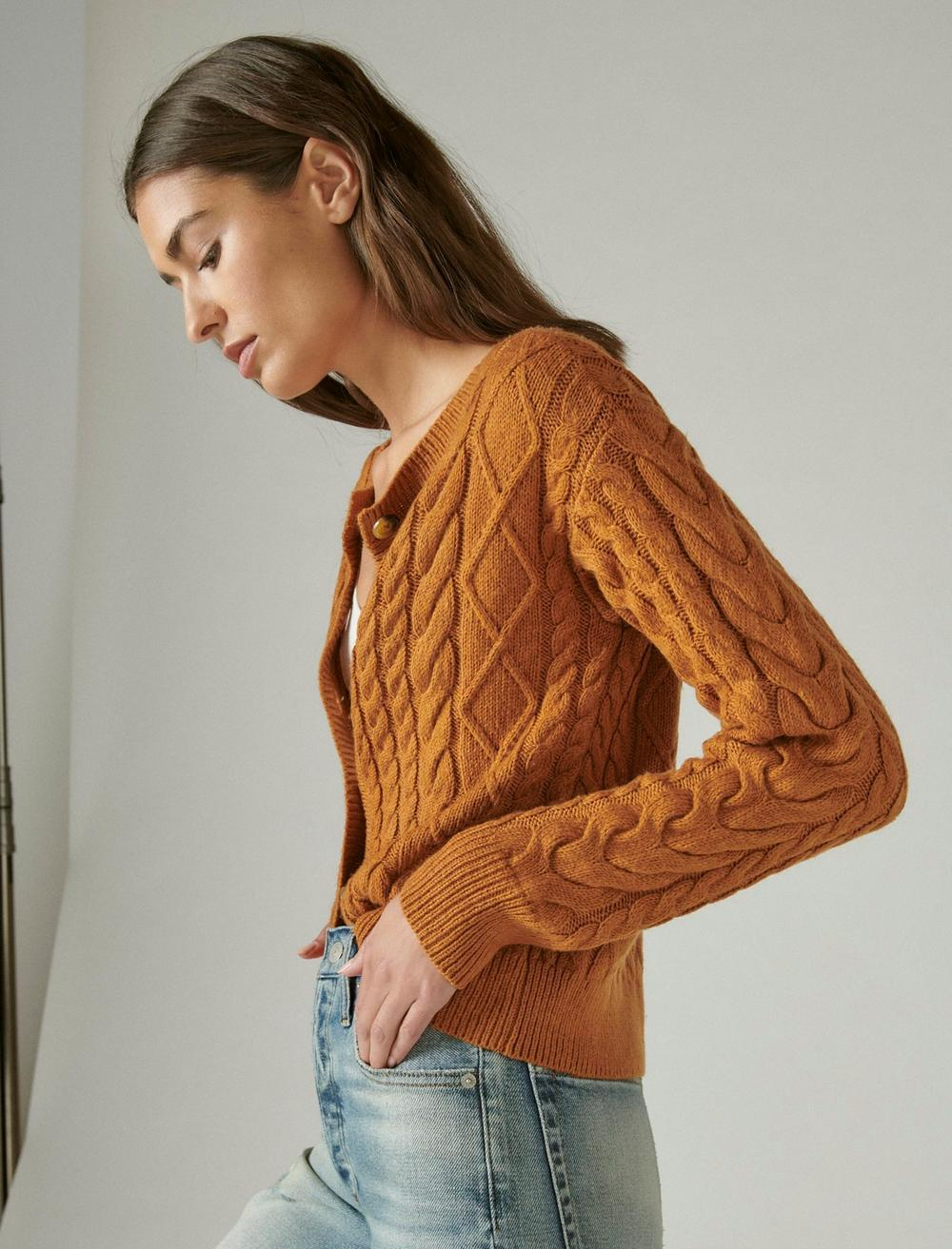 CABLE CARDIGAN TOP, image 3