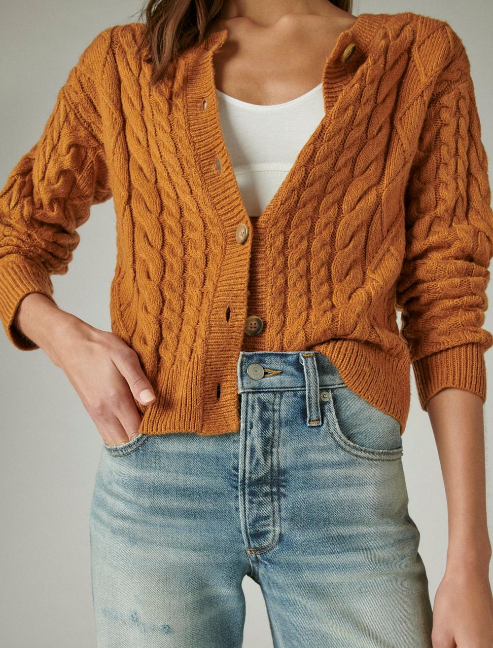 CABLE CARDIGAN TOP, image 5