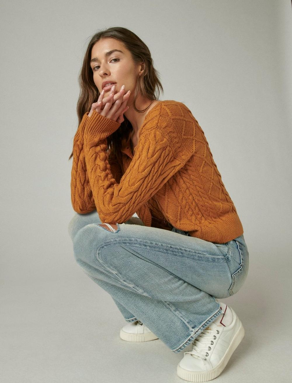 CABLE CARDIGAN TOP, image 6