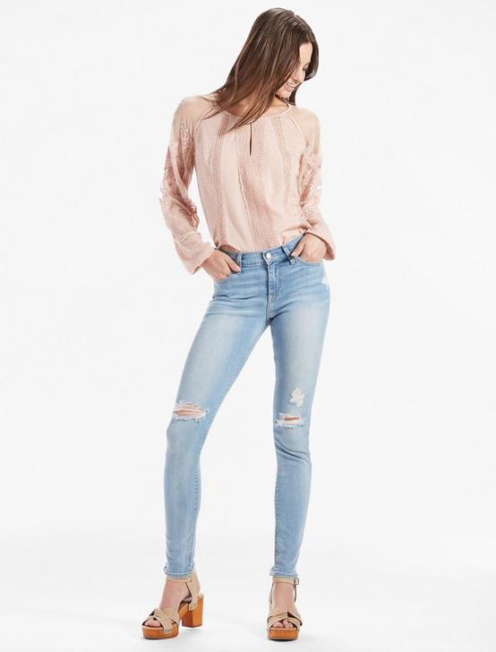 LACE MIX EMBROIDERED TOP, BLUSH, productTileDesktop