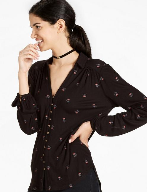 DITSY BUTTON UP SHIRT,