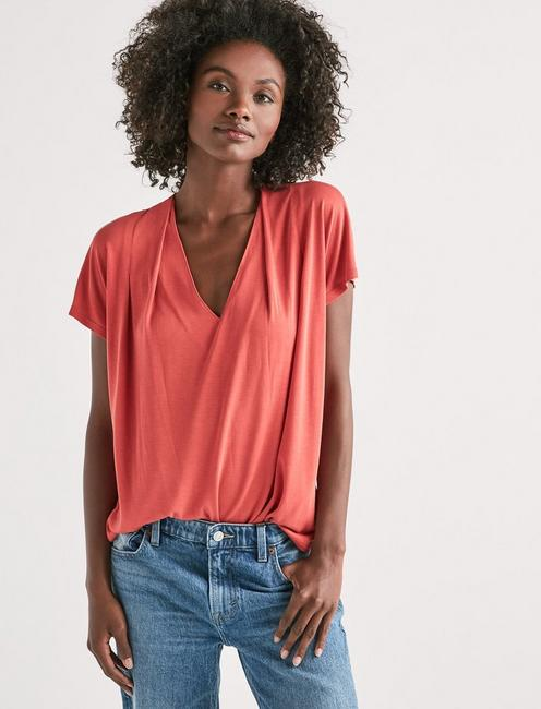 Lucky Sandwash V-Neck Darted Top