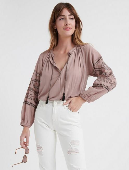 9dd32bc917b Lucky Embroidered Peasant Top ...