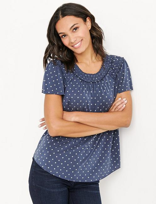 Lucky Polka Dot Sandwash Top