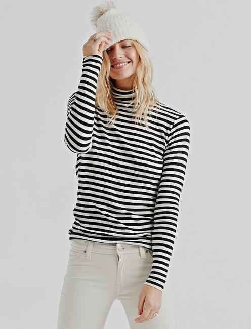 Lucky Stripe Turtle Neck
