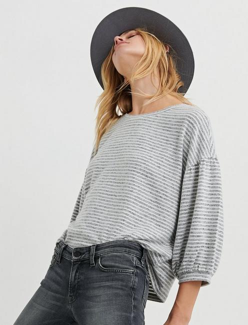 Stripe Cloud Jersey Top