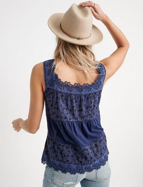 TIERED TANK TOP, BLUE