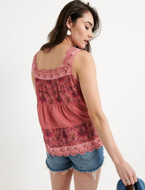 TIERED TANK TOP, PINK
