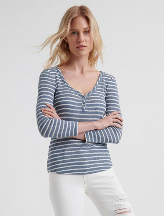 HENLEY TOP, BLUE STRIPE, productTileDesktop