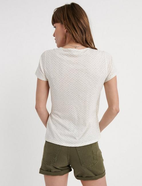 SIDE TIE WRAP TOP, NATURAL MULTI