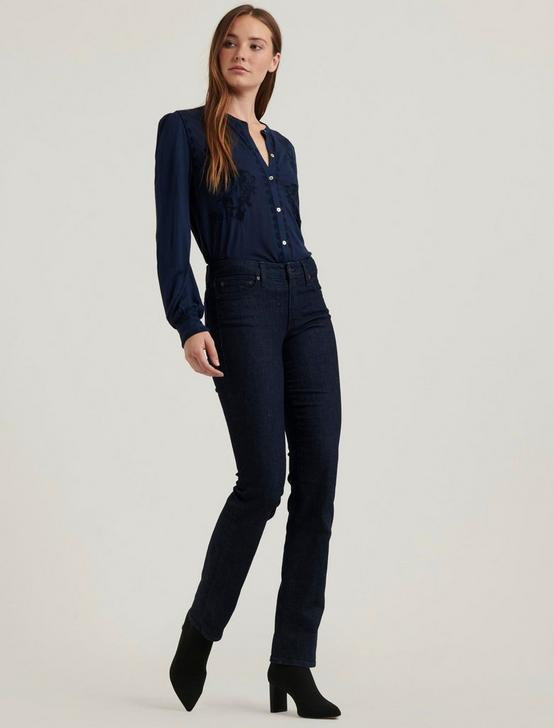 EMBROIDERED BUTTON FRONT TOP, AMERICAN NAVY, productTileDesktop