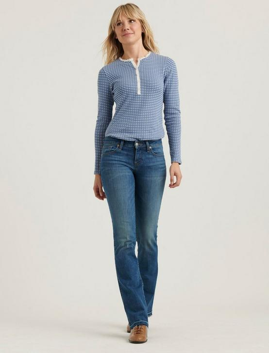 Pointelle Henley Thermal
