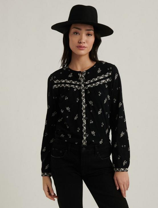 PRINTED KNIT SHIRT, BLACK MULTI, productTileDesktop