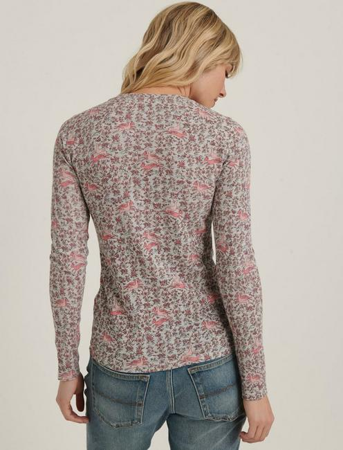 PRINTED CREW THERMAL, PINK MULTI