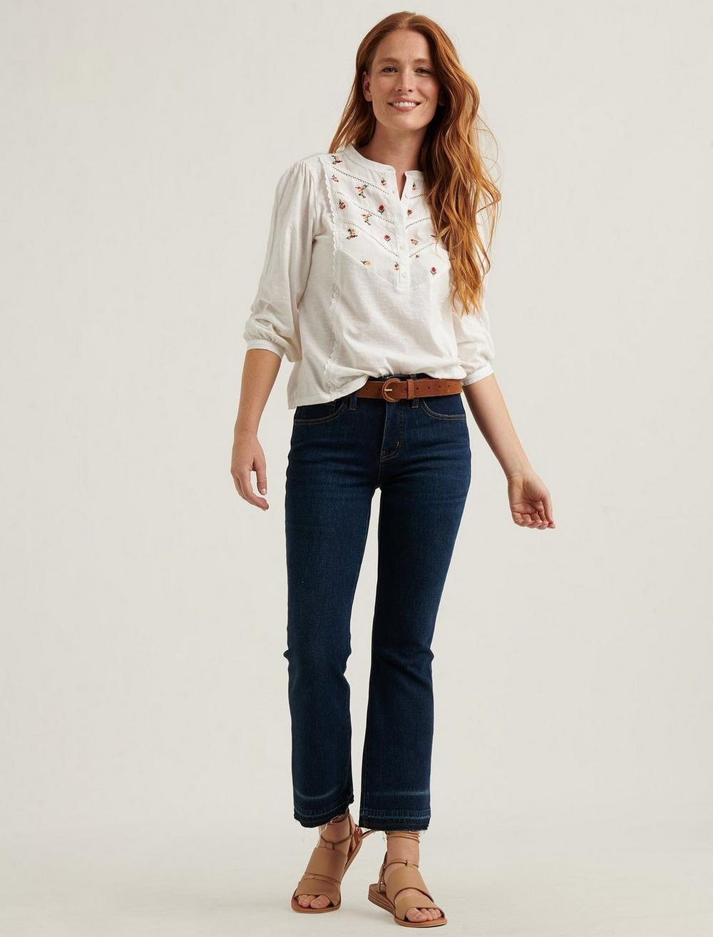 EMBROIDERED HENLEY TOP, image 2