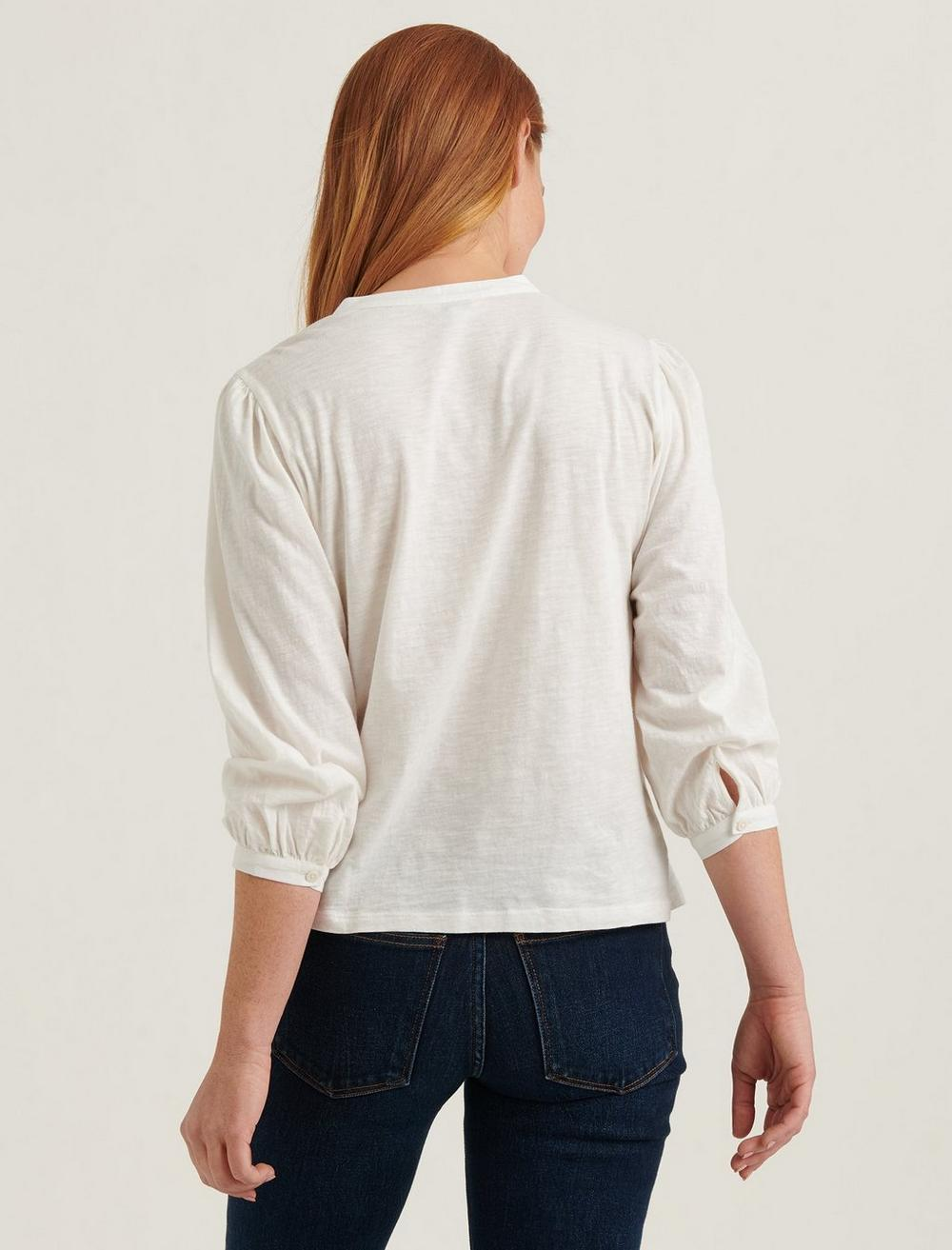 EMBROIDERED HENLEY TOP, image 4
