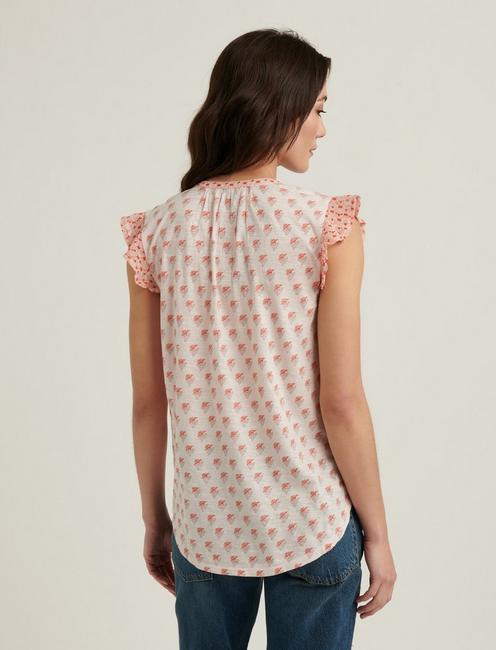 WOODBLOCK PRINTED TANK, PEACH MULTI