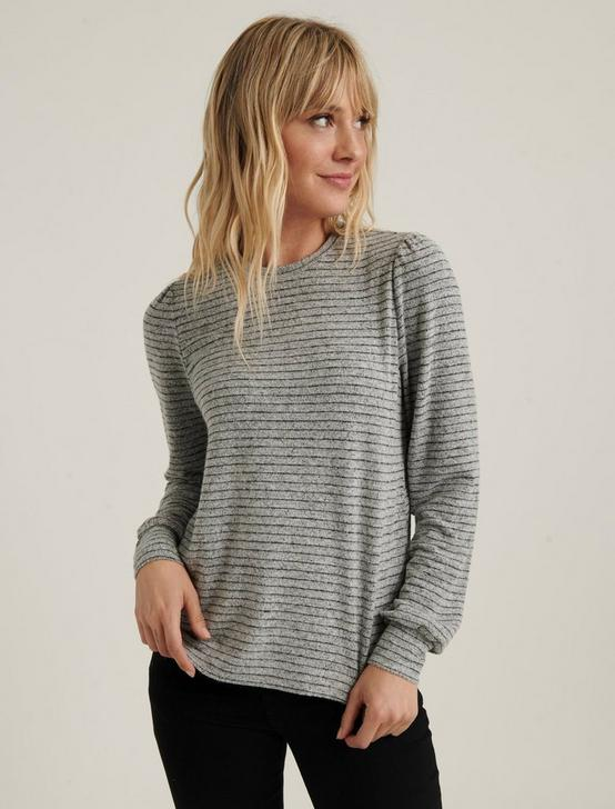 CLOUD JERSEY FEMME SLEEVE, GREY STRIPE, productTileDesktop