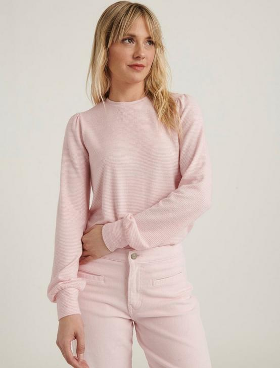 CLOUD JERSEY FEMME SLEEVE, PINK STRIPE, productTileDesktop