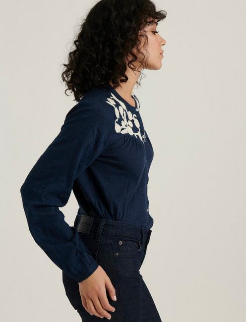 EMBROIDERED YOKE BUTTON DOWN, AMERICAN NAVY