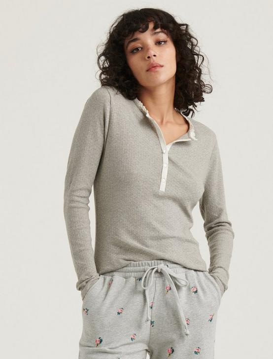 POINTELLE HENLEY THERMAL, HEATHER GREY, productTileDesktop