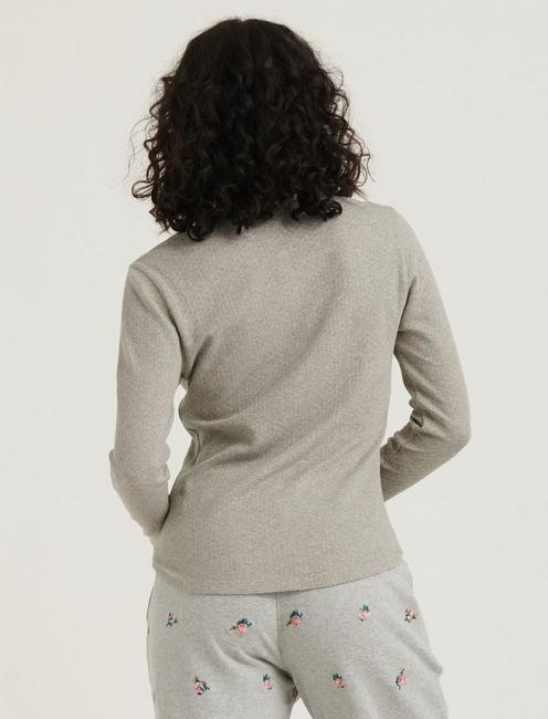 POINTELLE HENLEY THERMAL, HEATHER GREY