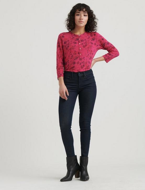 OVERDYED HENLEY TOP, PINK MULTI, productTileDesktop