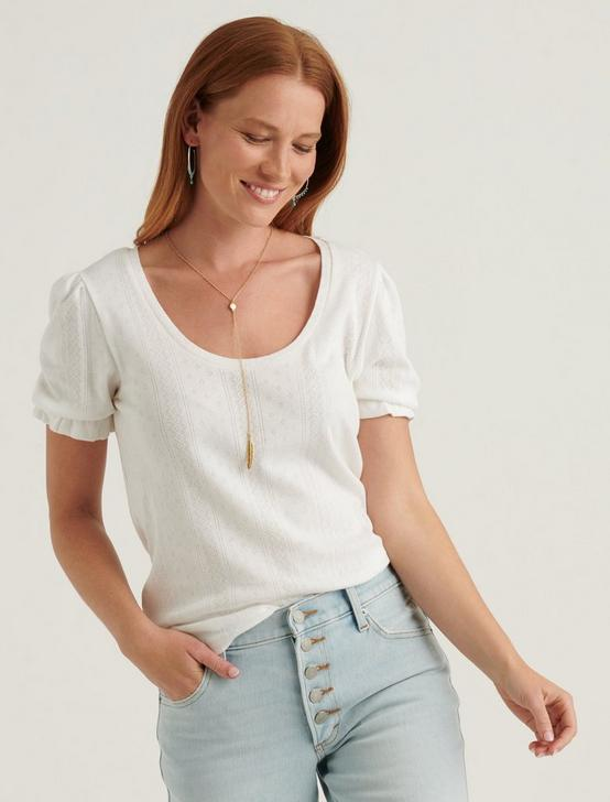 POINTELLE SCOOP NECK TOP, LUCKY WHITE, productTileDesktop