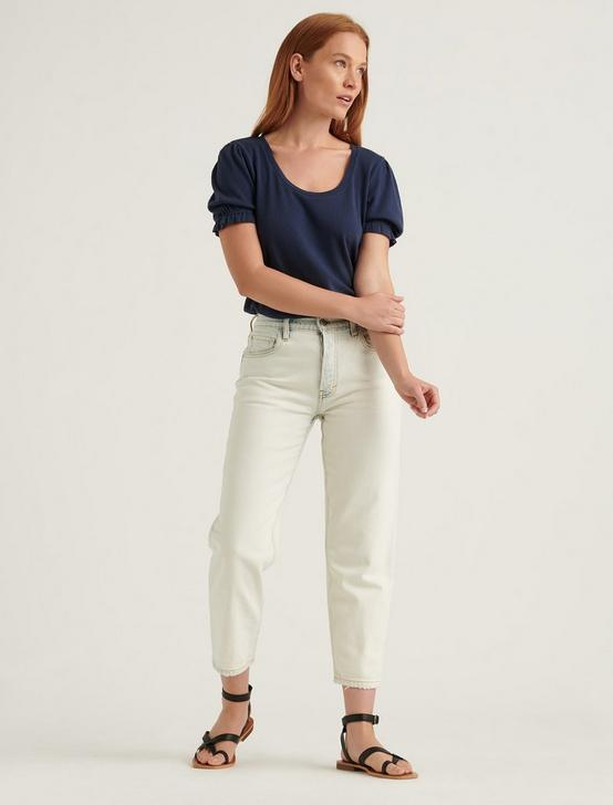 POINTELLE SCOOP NECK TOP, AMERICAN NAVY, productTileDesktop
