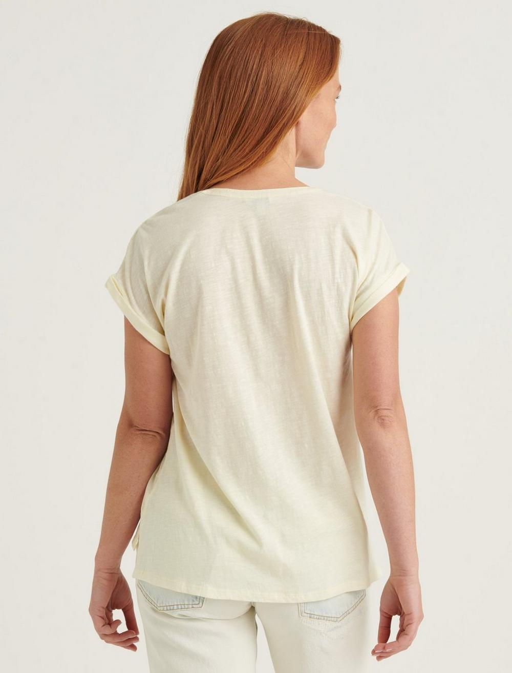 SHORT SLEEVE WOVEN MIX BUTTON DOWN TOP, image 4