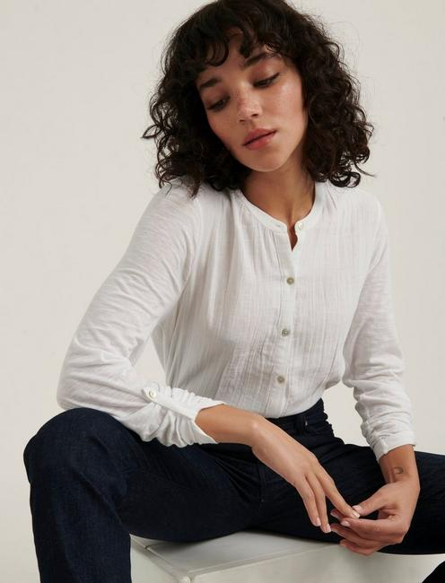 DOUBLE GAUZE SHIRTING, LUCKY WHITE
