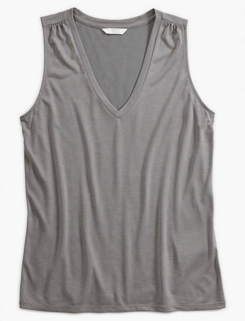V-NECK SANDWASH TANK, GREY