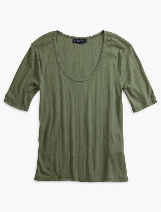 POINTELLE SCOOP NECK TEE, LAUREL WREATH, productTileDesktop