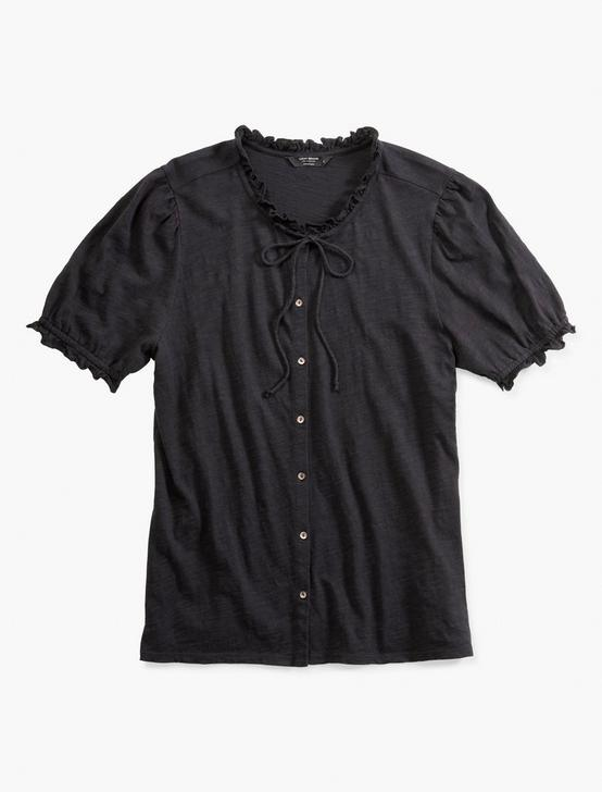 SHORT SLEEVE BUTTON DOWN, 001 LUCKY BLACK, productTileDesktop