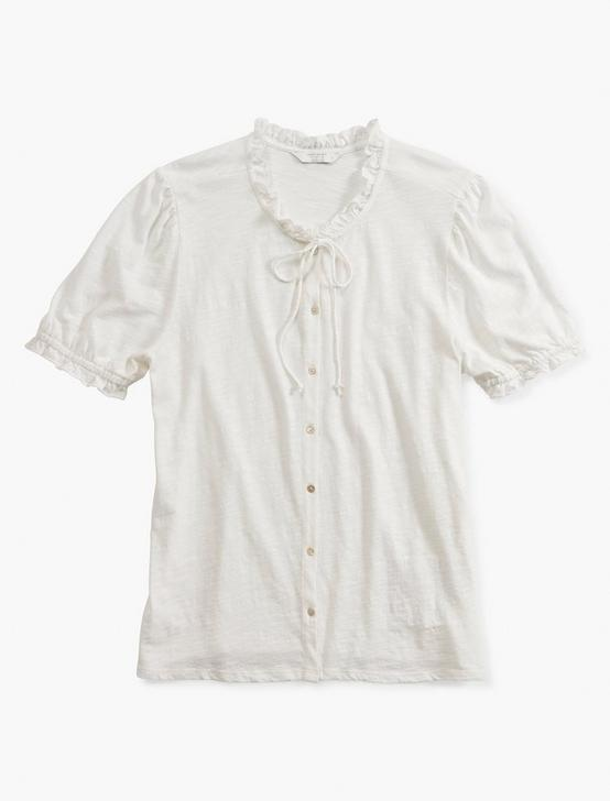SHORT SLEEVE BUTTON DOWN, BRIGHT WHITE, productTileDesktop