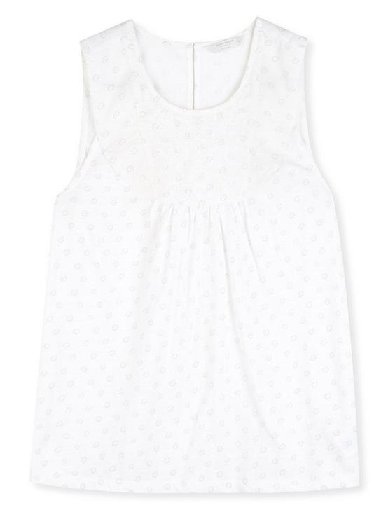 EMBROIDERED YOKE TANK, WHITE MULTI, productTileDesktop