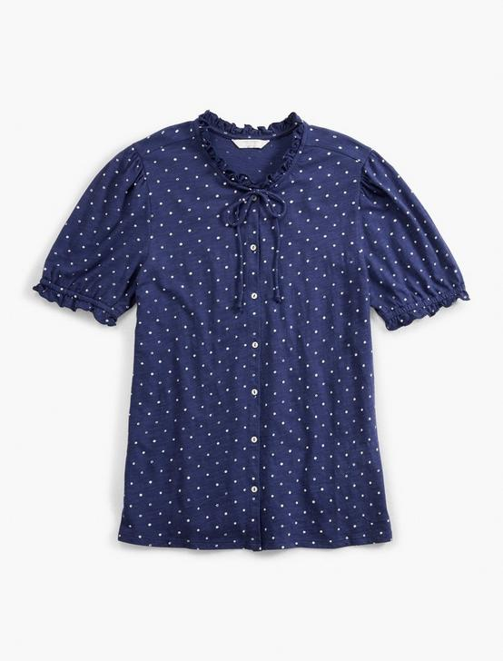PRINTED SHORT SLEEVE BUTTON DOWN, NAVY MULTI, productTileDesktop