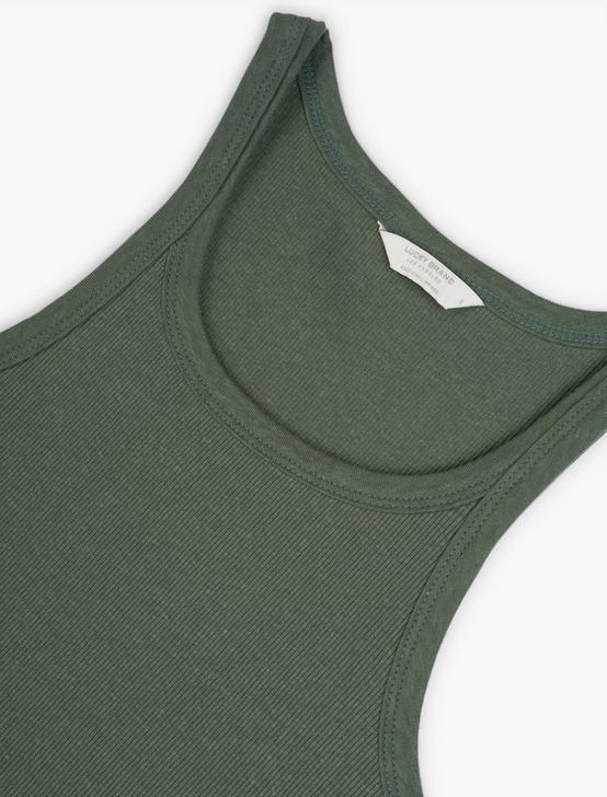 ESSENTIAL RIBBED TANK, LAUREL WREATH, productTileDesktop