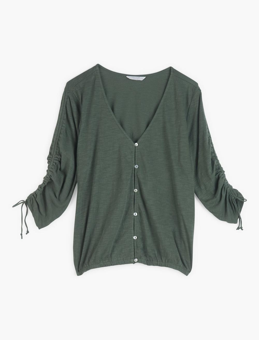 RUCHED SLEEVE TOP, image 1