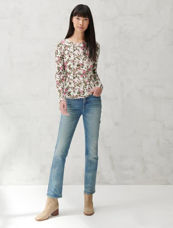 POINTELLE LONG SLEEVE TEE, PINK MULTI, productTileDesktop