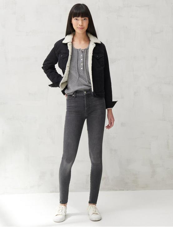 KNIT TOP, DARK HEATHER GREY, productTileDesktop