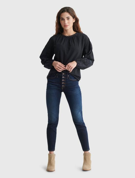 KNIT TOP, WASHED BLACK, productTileDesktop