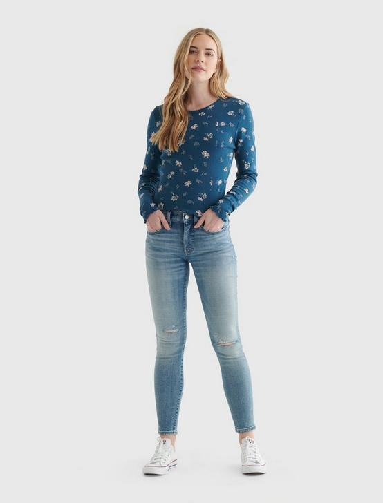 POINTELLE LONG SLEEVE CREW, BLUE MULTI, productTileDesktop