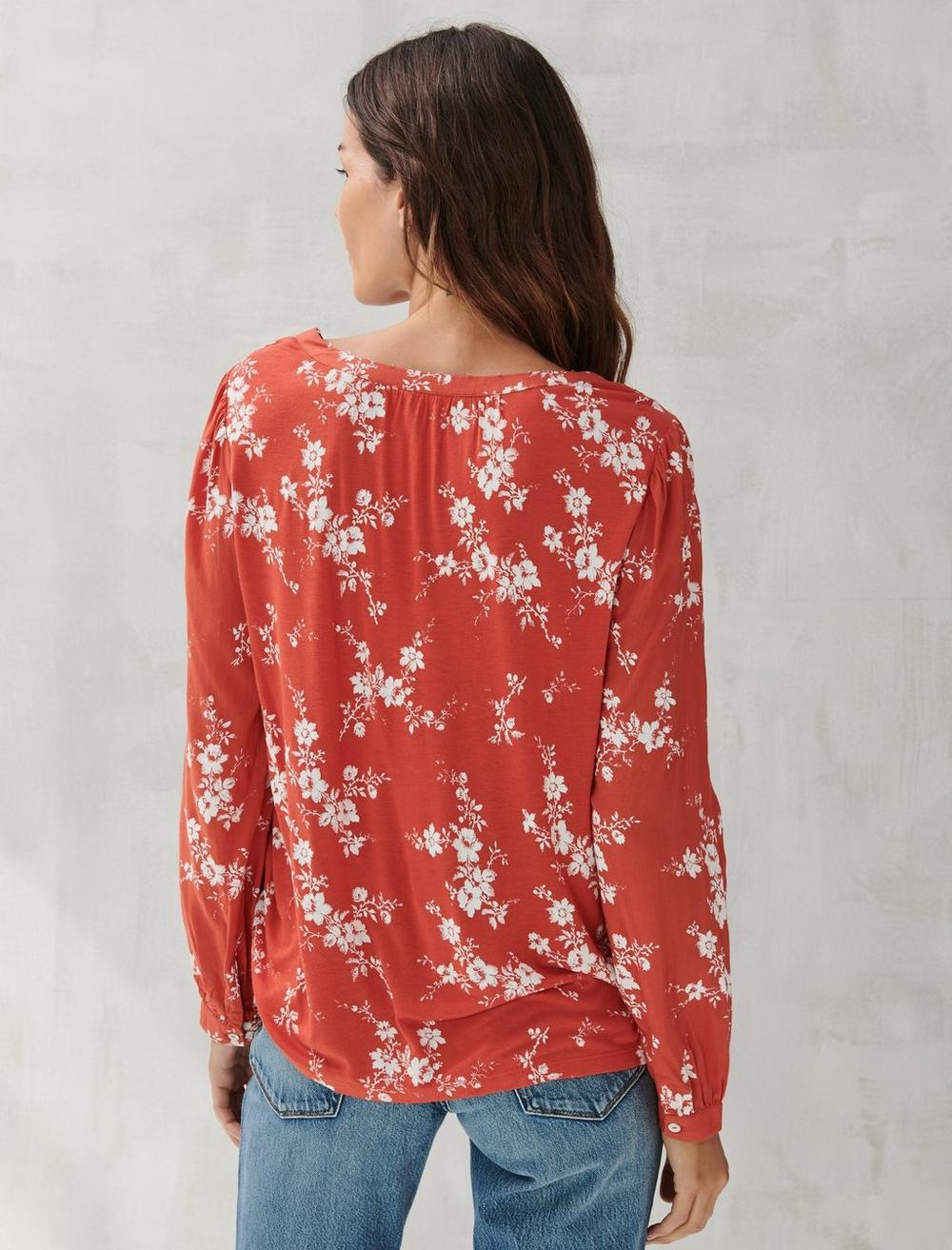 PRINTED SQUARE NECK TOP, image 4